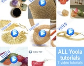 Jumbo Yoola Crochet jewelry making tutorials ,online video tutorials PDF patterns step by step jewelry instructions