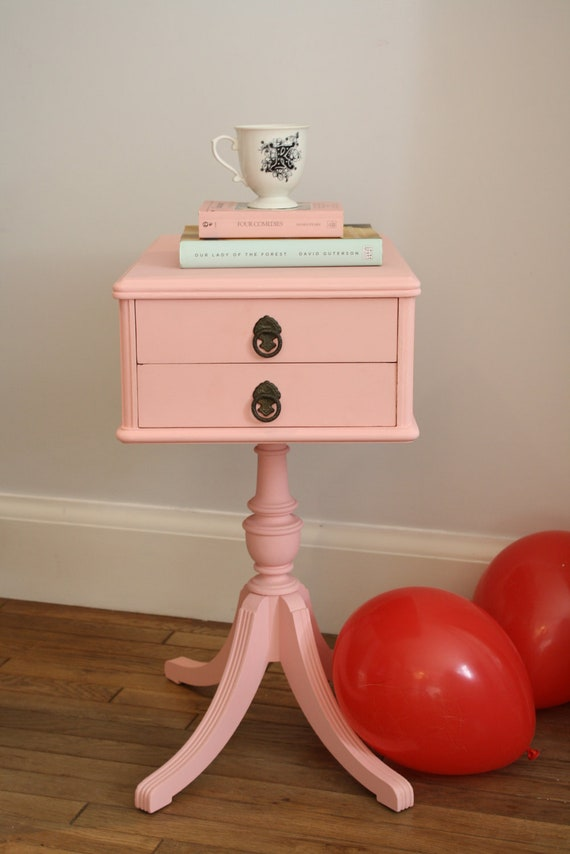 RESERVED FOR REBECCA Sweet Pink Side Table