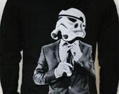 Storm trooper Smarttrooper - Mens / Unisex  Zip-Up Hoodie ( Star Wars / Storm Trooper sweater)