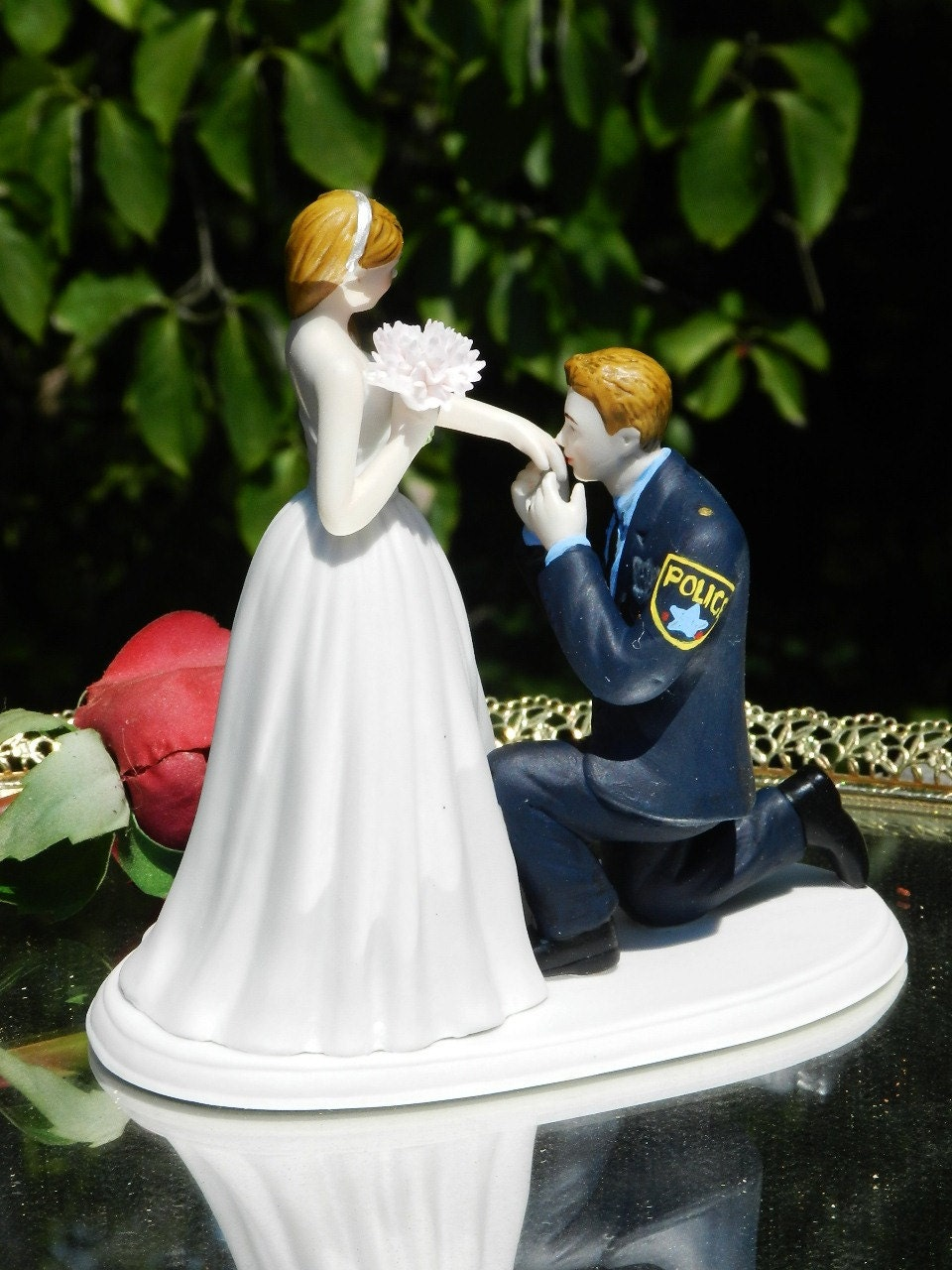 police officer wedding cake topper officer cop enforcement prince wedding cake topper 18672
