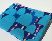 small zipper pouch in shapes and stripes