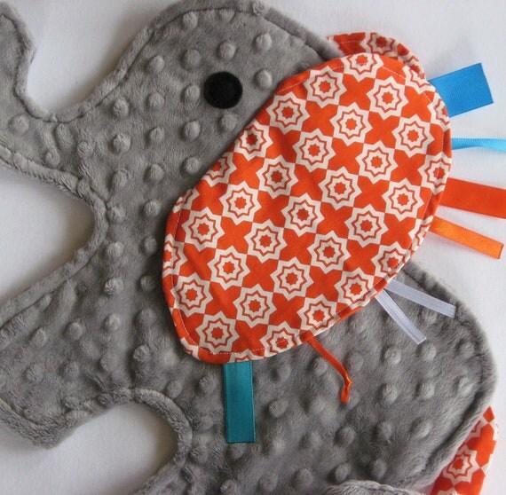 Moroccan Tangerine Elephant Baby Security Blanket