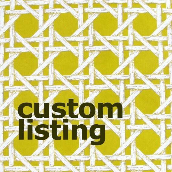 CUSTOM LISTING for VINTAGEVILLAINTERIORS - vintage wallpaper - wood lattice