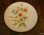 Vintage Bread Plate, Yellow Flowers