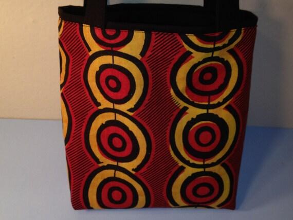 Life Circles, Authentic African Makoti Wax Print, Gift Wrap, Fabric Gift Tote Bag, Christmas, Kwanzaa, Reusable Gift Wrap