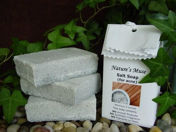1 bar Sea Salt Soap for Acne, Vegan, 5 to 6 ounce bar