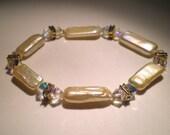 Champagne Pearl Swarovski Crystal Bracelet