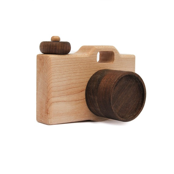 Camera Wood Toy - Imaginative Play - Pretend Camera - Toy Camera - Wooden Toy - Photo Prop - Wood Camera - DSLR Camera - Camera -TY22