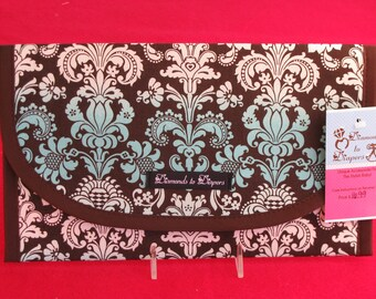 Damask Tie-Dye Diaper and Wipes Case Holder Clutch