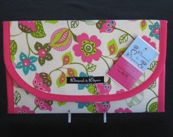 Mystic Flowers Diaper and Wipes Case Holder Clutch