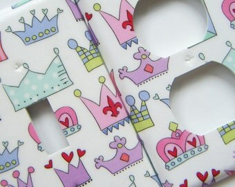 Light Switch Cover Outlet Cover Switchplate Princess Crowns