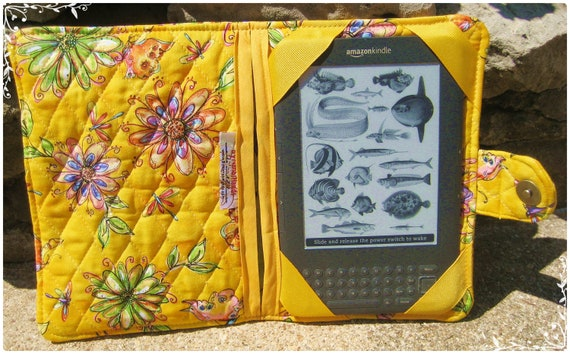Kindle HD, Kindle 3 or Kindle Fire Cover-Butterflies, Dragonflies and Flowers