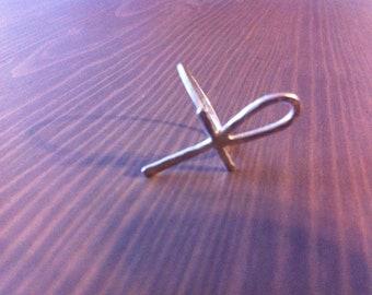 Ankh Ring - Sterling Silver - Lucky Talisman Charm - Jennifer Cervelli Jewelry