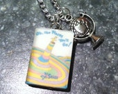 OhThePlacesYouWillGo Necklace with Book Charm and Globe Charm