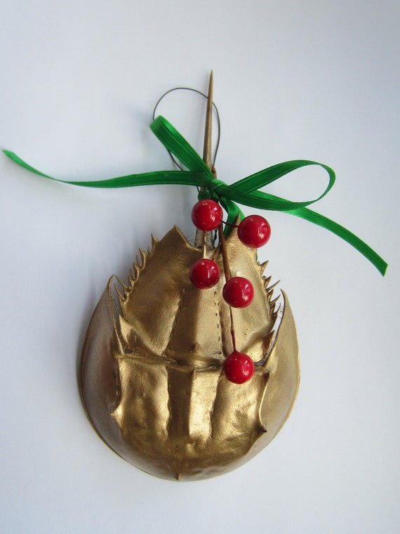 Gold Horseshoe Crab Christmas Tree by keeperofthedragonfly ...