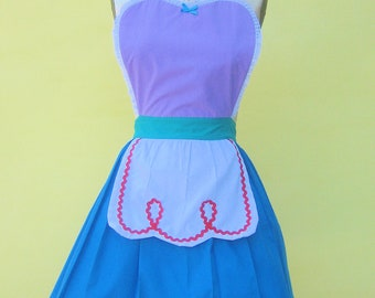 SALE apron little Mermaid Ariel princess APRON  Princess style  womens full Apron Ariel costume