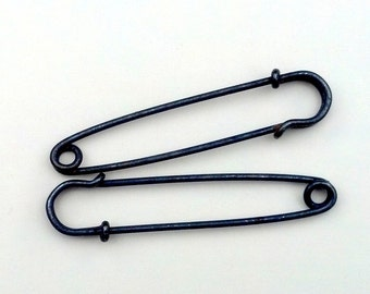 3 Antiqued Silver-plated 3-inch Kilt Pins
