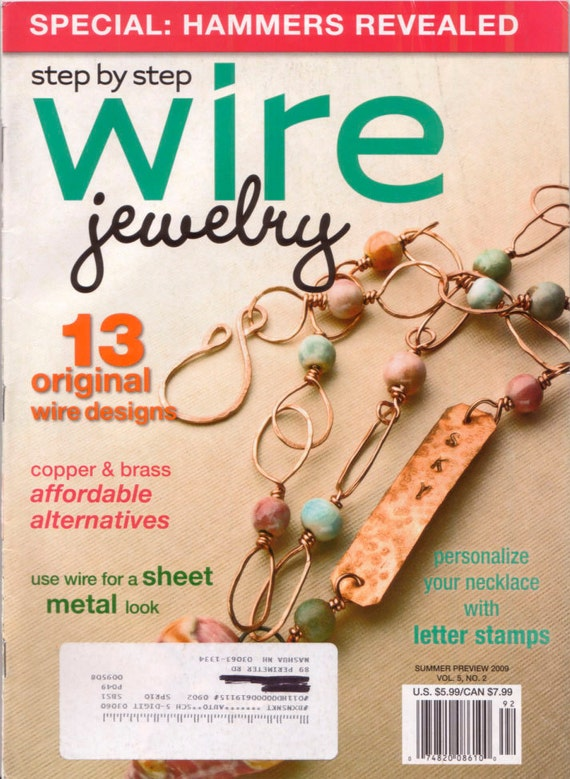 step by step wire jewelry magazine 5 issues by glassbeadweaver