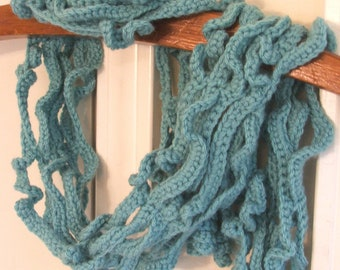 NEW Crochet Scarf Pattern - Curly Vines crochet pattern, permission to sell- made in Chains and SC stitch - Instant Download