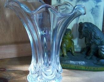 Antique Heisey Swung Vase Circa 1908 Signed