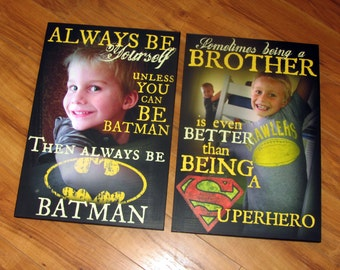 """Always be BATMAN- Personalized PHOTO Giclee MoUNTED prints- custom made to order- 13"""" x 19"""""""