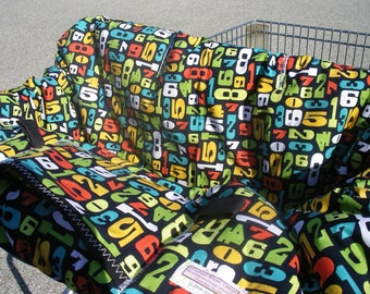 Shopping Cart cover  for boy or girl.....Modern NUMBERS Shopping Cart Cover