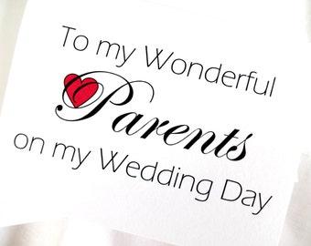 Parents Wedding Thank You Card - Parents Wedding Card