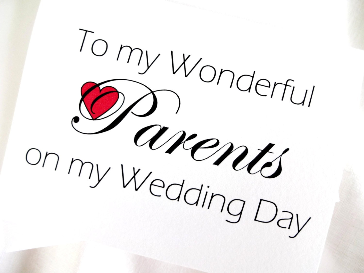 Thank Letter To Parents For Wedding: Parents Wedding Thank You Card Parents Wedding Card