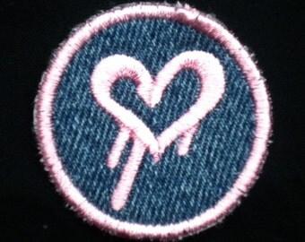 Bleeding Heart Iron-on Patch / Merit Badge