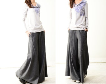 Moon forgot - woolen skirt pants (K1206)