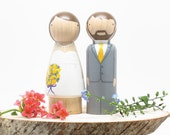 Custom Wedding Cake Toppers by Goose Grease Fair Trade Skirt Doll- Custom Wooden Dolls Wedding Cake Topper