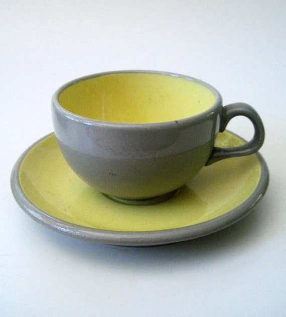 1950s Harkerware cup and saucer.