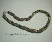 RESERVED FOR JUDY - Multi Color Spiral Beaded Choker