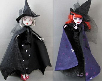 Patterns for Witch and Halloween Outfits for Slim Fashion Dolls