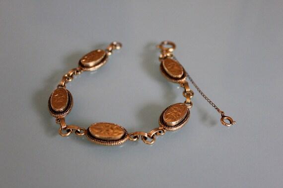 Gold plated bracelet, Vintage Victorian Bracelet, Steampunk Bracelet, Victorian Jewelry, Vintage Bracelet