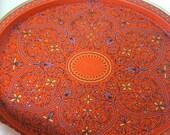 Vintage East Indian Design Metal Tray