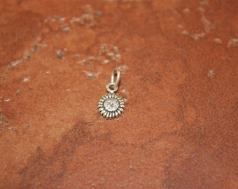 Sterling Silver Sunflower Mini Charm
