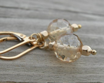 Wire Wrapped Gold Fill Earrings