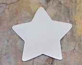 """5 Deburred 18G Aluminum 2 1/4"""" ornament sized Large CHUNKY STAR Stamping Blanks"""