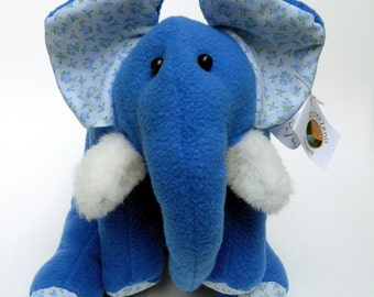 Handmade soft fleece elephant