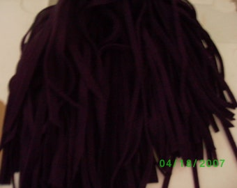 100  Wool Rug Hooking Strips Damson Plum  Size # 4