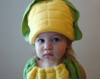 Kids Corn on the Cob Costume Hallowen Childrens Twin Set Vegetable Purim Photo Prop Boy Girl