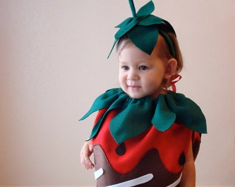 Baby Costume  Chocolate Covered Strawberry Costume  Toddler Costume  Halloween Costume