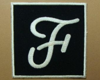 Monogram Square Embroidered Applique -100089