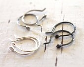 eco friendly earrings- recycled silver sprouts by sara thomas jewelry