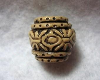 Dread Bead Faux Bone Clay Pot  You Choose Hole Size