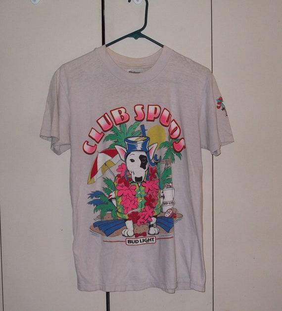 Vintage 1986 club spuds spuds mackenzie budweiser beer t-shirt medium 50/50