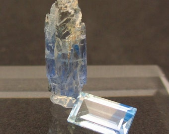 Jeremejevite Specimen and Faceted Gem Set - Free Gift Wrapping