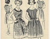 Vintage Sewing Pattern 1960's Ladies Dress French Modes de Paris  N. 735 Patron Ancien