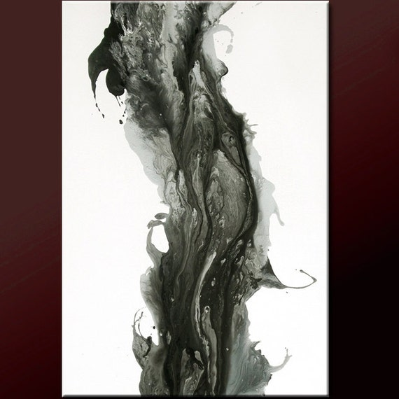 Abstract Canvas Art Painting 24x36 Original Modern Contemporary Art by Destiny Womack - dWo - The Ascent